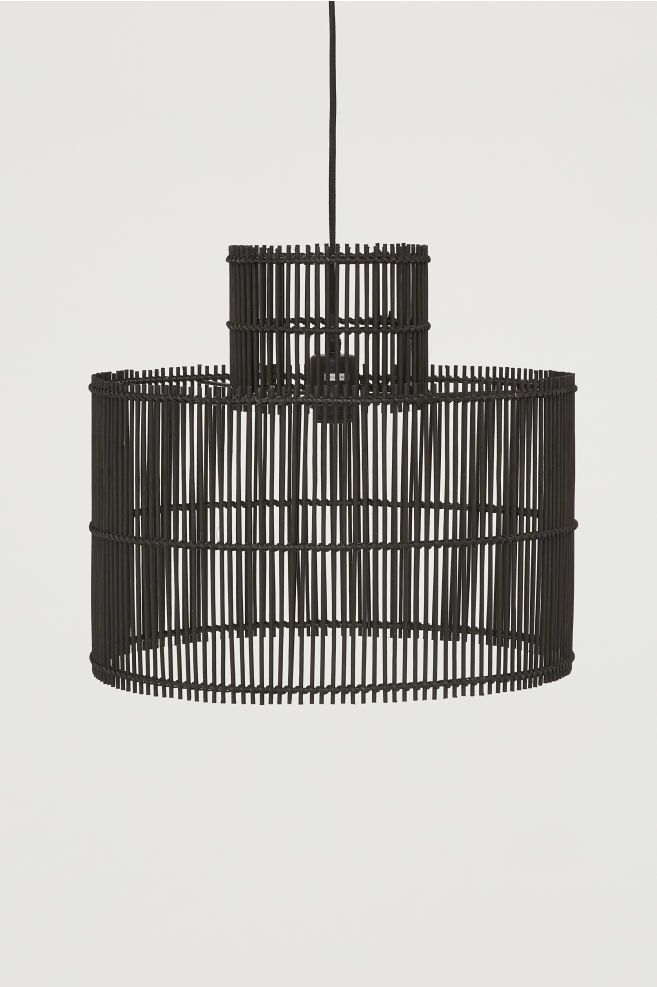 H&M Bamboo Black Pendant Light