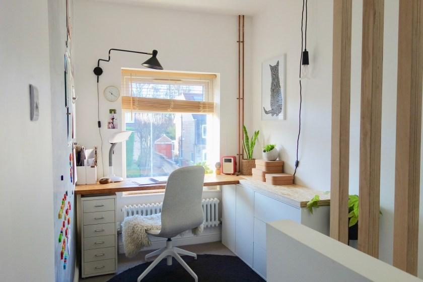 open plan home office