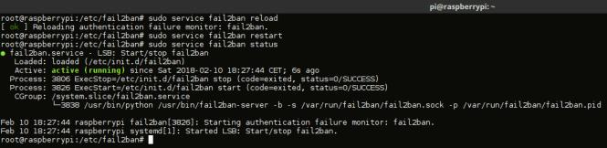 fail2ban - service commandes