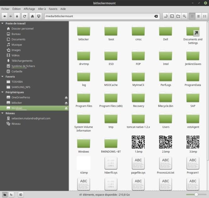 BitLocker partition depuis Nemo