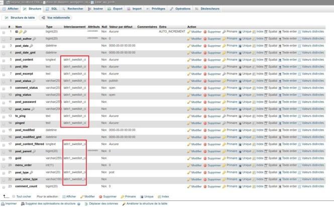 PHPMyAdmin - Interclassement - migration vers PHP7