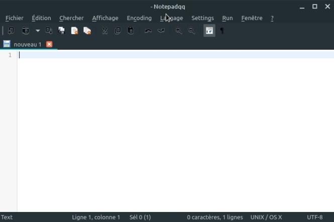 look des applications QT - Notepadqq after