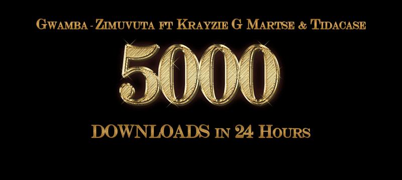 Gwamba - Zimuvuta ft Krazie G, Martse, and Tidacase Hits 5000+ Downloads In 24 Hours