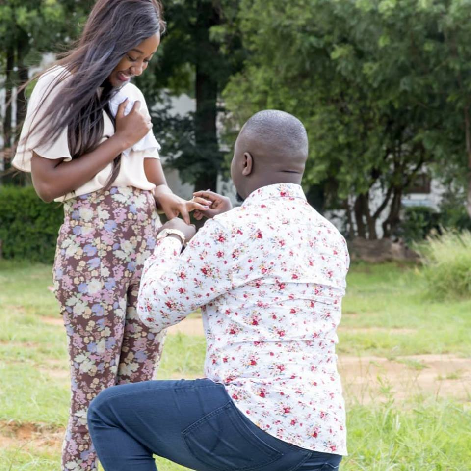 Gwamba Proposes to his Long-Time Partner in a Grand Style, Arrives on Helicopter