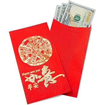 Sobre rojo año nuevo chino