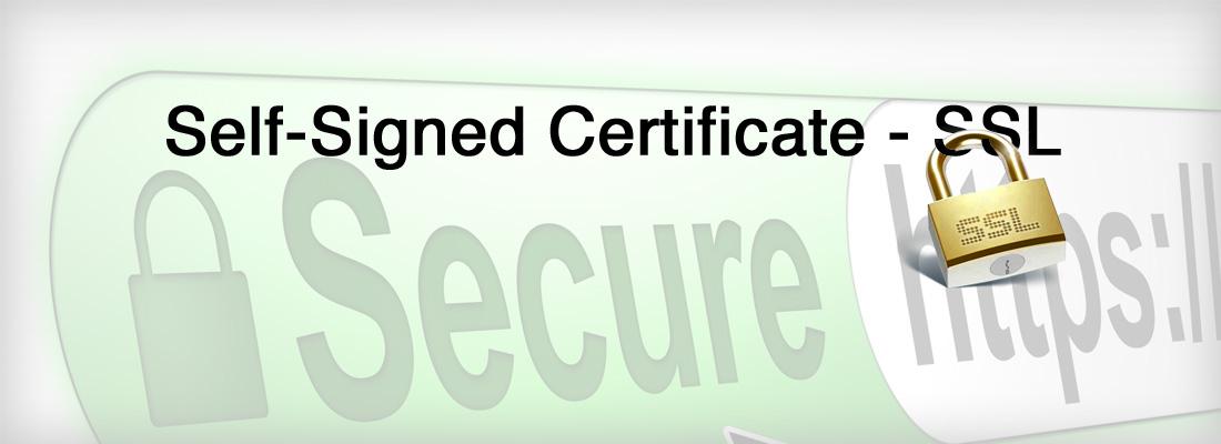 SSL_Self-Signed Certificate