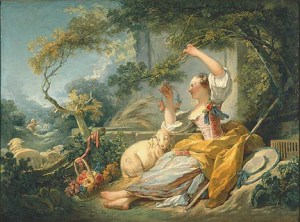 Jean-Honoré Fragonard, The Shepherdess, ca. 1750/52. Bequest of Leon and Marion Kaumheimer. Photo credit John Nienhuis, Dedra Walls
