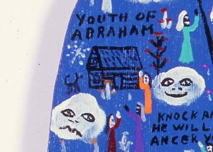 Howard Finster, Youth of Abraham (detail), 1988. Acrylic on wood. Milwaukee Art Museum. Gift from the collection of Isabelle and Herbert Polacheck. Photo credit John R. Glembin