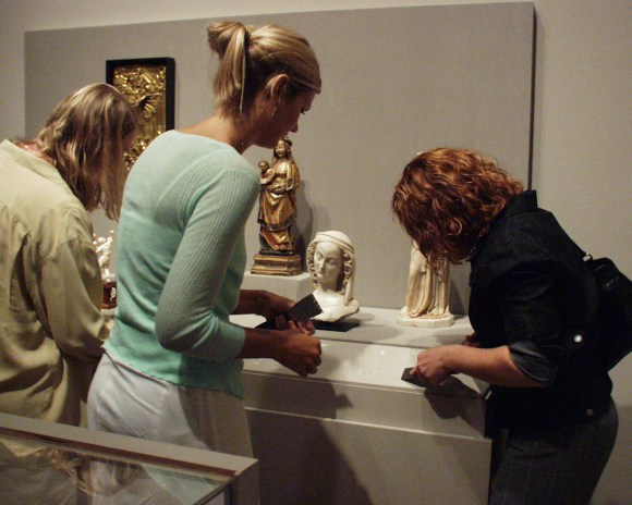 In 2004, interns helped put new labels out in the collection galleries.