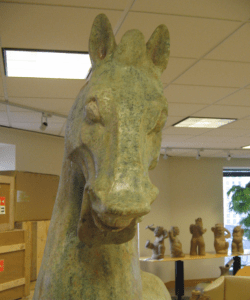 Prancing Horse with Head Turned, Eastern Han Dynasty (25-220 CE), detail.