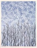 Keiji Shinohara (Japanese, b. 1955), Winter Garden, 1998. Color woodcut, sheet: 17 5/16 x 13 1/16 in. Milwaukee Art Museum, Gift of Print Forum, M2005.1. Photo by John R. Glembin.