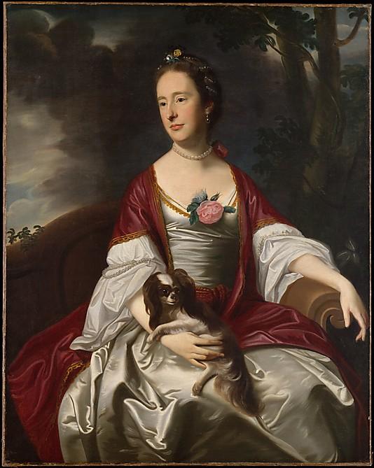 John Singleton Copley (American, 1738–1815), Mrs. Jerathmael Bowers, ca. 1763. Oil on canvas, 49 7/8 x 39 3/4 in. Metropolitan Museum of Art, Rogers Fund, 1915 (15.128).