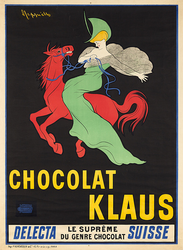 Leonetto Cappiello, (Italian, 1875–1942, active in France), Chocolat Klaus, 1903. Color lithograph. The Rennert Collection, New York City. Image courtesy of Jack Rennert, New York.