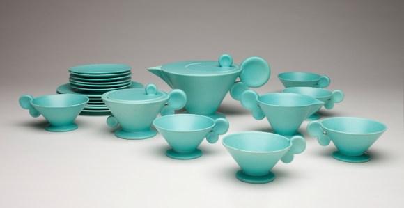 Grete Marks (German, 1899–1990), Haël Werkstätten Factory (Marwitz, 1923–34). Tea Service, ca. 1930. Milwaukee Art Museum, Purchase, by exchange. Photo by John R. Glembin.