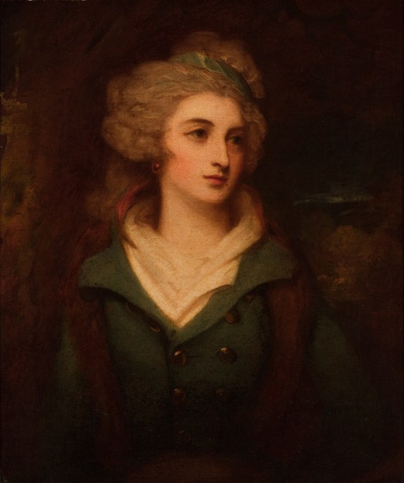 George Romney (English, 1734–1802), Miss Grace Ashburner, 1792. Oil on canvas; 30 1/8 x 25 1/8 in. (76.52 x 63.82 cm). Layton Art Collection, Gift of Mr. and Mrs. Arthur N. McGeoch, Sr. L1941.9 Photo credit John R. Glembin