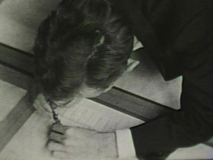 Film still: Student drafting at Taliesin, early 1930s. Milwaukee Art Museum, Institutional Archives.