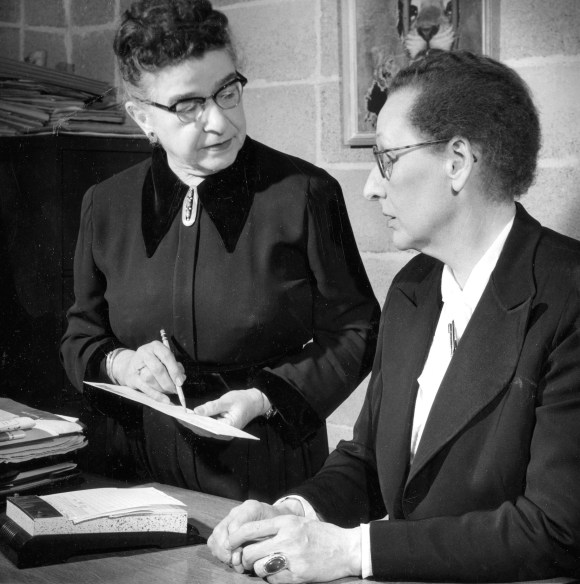 Charlotte Partridge and Miriam Frink. Filed February 17, 1954. Journal Sentinel Archives
