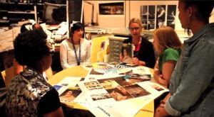 Teens talk with Design staff. Screenshot of the teens' final project video.