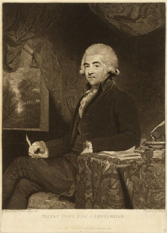 Charles Howard Hodges (English, 1764–1837), after Sir Joshua Reynolds (English, 1723–1792). Henry Hope Esqr of Amsterdam, 1788. Mezzotint. The British Museum 1840,0808.75. © Trustees of the British Museum.