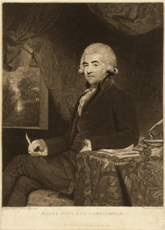 Charles Howard Hodges (English, 1764–1837), after Sir Joshua Reynolds (English, 1723–1792). Henry Hope Esqr of Amsterdam, 1788. Mezzotint. The British Museum 1840,0808.75. © Trustees of the British Museum.