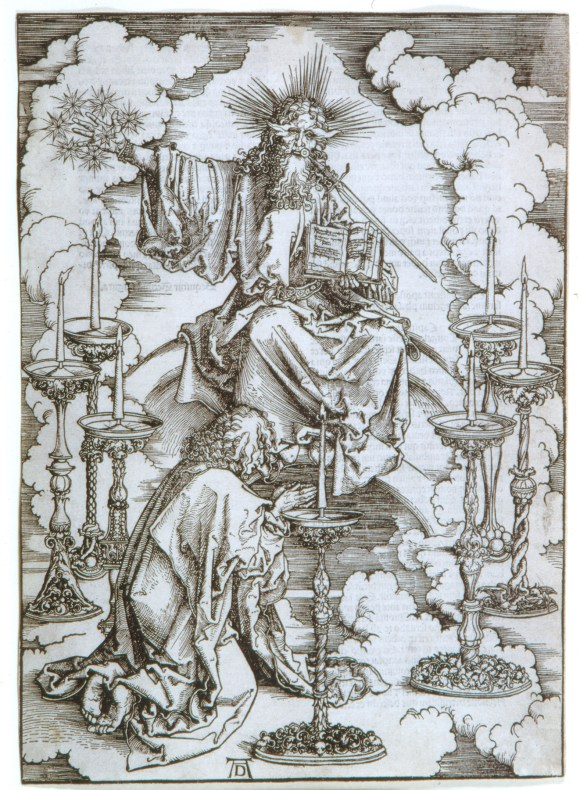 Albrecht Dürer (German, 1471–1528), St. John's Vision of Christ and the Seven Candlesticks, from the series The Apocalypse, 1498; published 1511. Woodcut. Milwaukee Art Museum, Gift of Mrs. Albert O. Trostel M1972.41. Photo credit: P. Richard Eells.