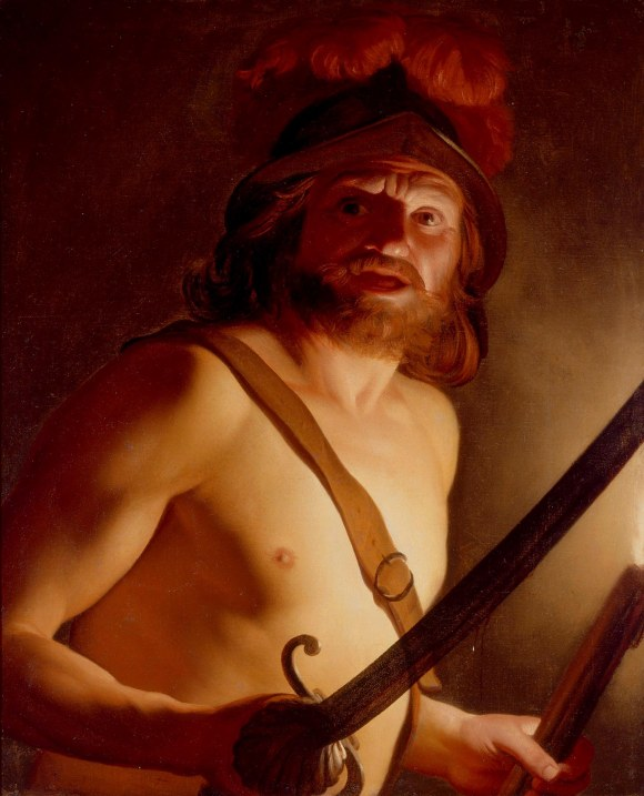Gerrit van Honthorst (Dutch, 1590–1656, active in Italy), Mars, God of War, 1624/27. Oil on canvas. Milwaukee Art Museum, Gift of Mr. and Mrs. Myron Laskin M1975.121. Photo credit: Larry Sanders.