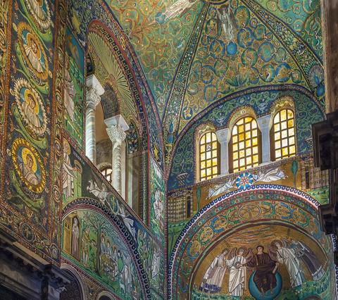 Byzantine Mosaics in the Basilica of San Vitale, Ravenna, Italy, ca. 547 A.D. © Borisb17 | Dreamstime.com.