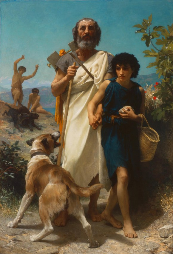 William-Adolphe Bouguereau (French, 1825–1905), Homer and His Guide, 1874. Oil on canvas. Milwaukee Art Museum, Layton Art Collection, Inc., Gift of Frederick Layton L1888.5. Photo credit: Larry Sanders.