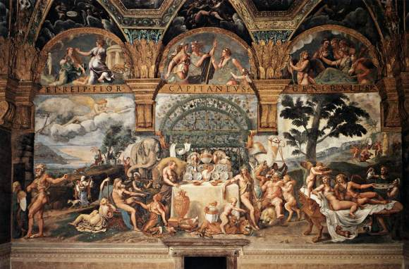 Giulio Romano (Italian, probably 1499–1546). View of the fresco on the south wall of the Sala di Psiche in the Palazzo del Tè, Mantua, 1526-28.