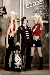 Best cosplay Soul Eater female hot Death the kid Patty Liz thompson anime streaming manga tv legal gratuit by_inuchronicle by_pinkicycle