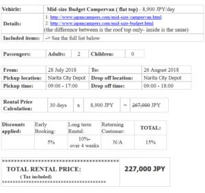 JapanCampers - Angebot