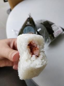 Ume-Onigiri ohne Nori