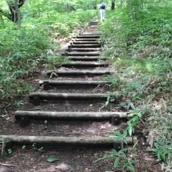 Teilweise auch mal Stufen für die Steigung