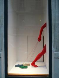Five Creative Store Displays Using Mannequin Legs to Sell