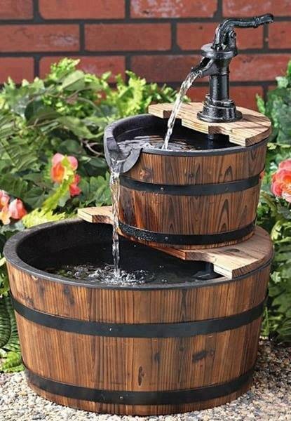 barrel fountain DIY Handy Mano ManoMano Mano Mano Handymano