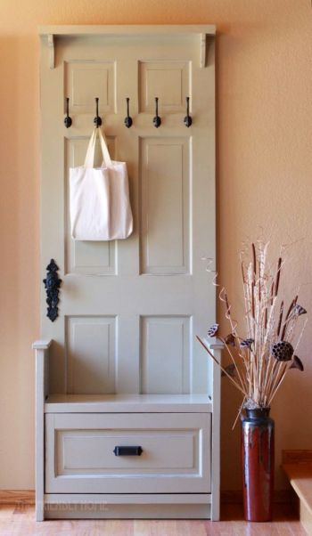 upcycled door projects Hall Organiser Handy Mano ManoMano Mano Mano Handymano