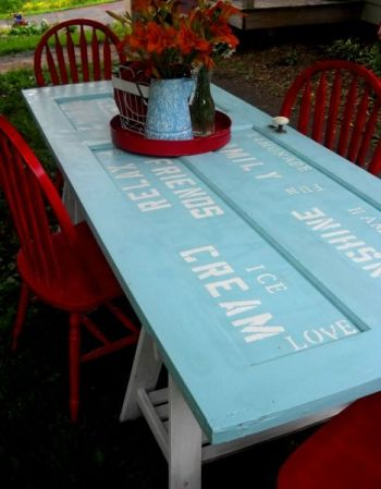 upcycled door projects Table Handy Mano ManoMano Mano Mano Handymano