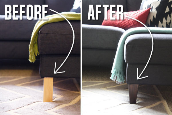 Ikea Furniture Hacks sofa legs Handy Mano ManoMano Mano Mano Handymano