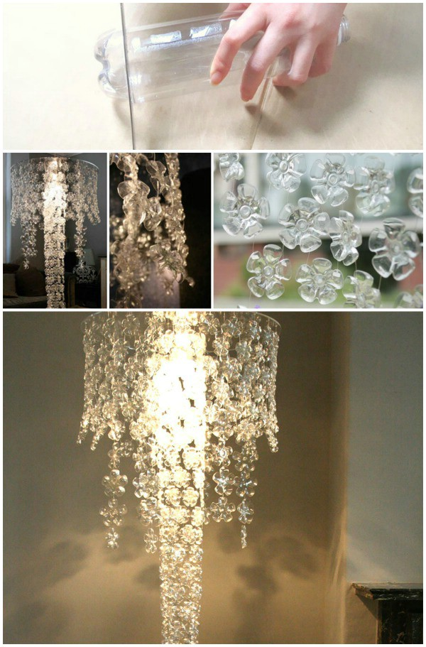 plastic bottle crafts mano mano the handy mano manomano DIY chandelier