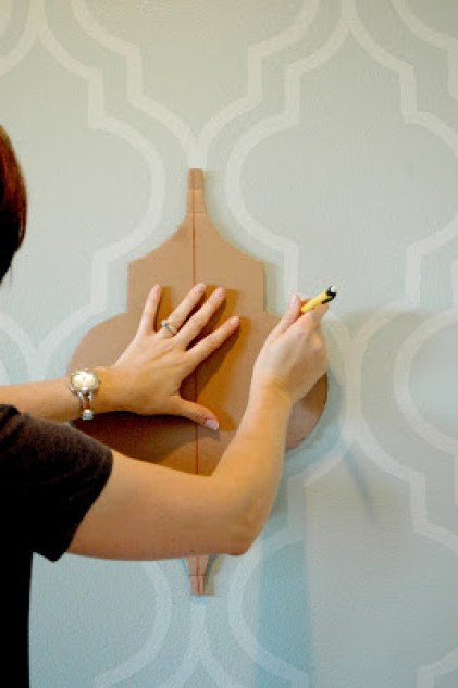 feature wall paint ideas the handy mano manomano mano mano stencil painting