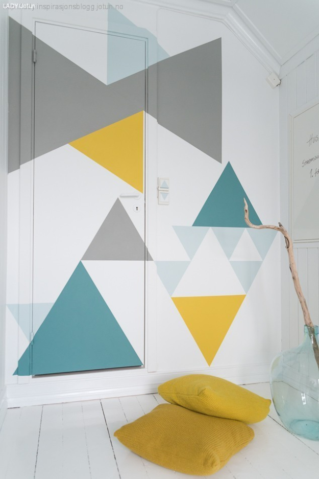 Incredible diy feature wall paint ideas the handy mano for Geometric paint designs