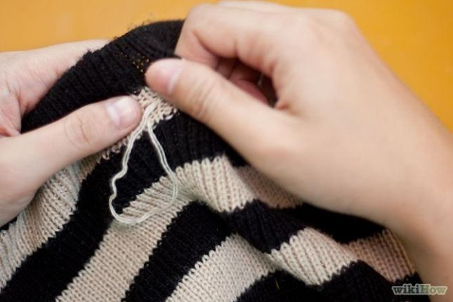 fix broken stuff objects damaged hacks tricks save the handy mano manomano jumper sweater snag loose
