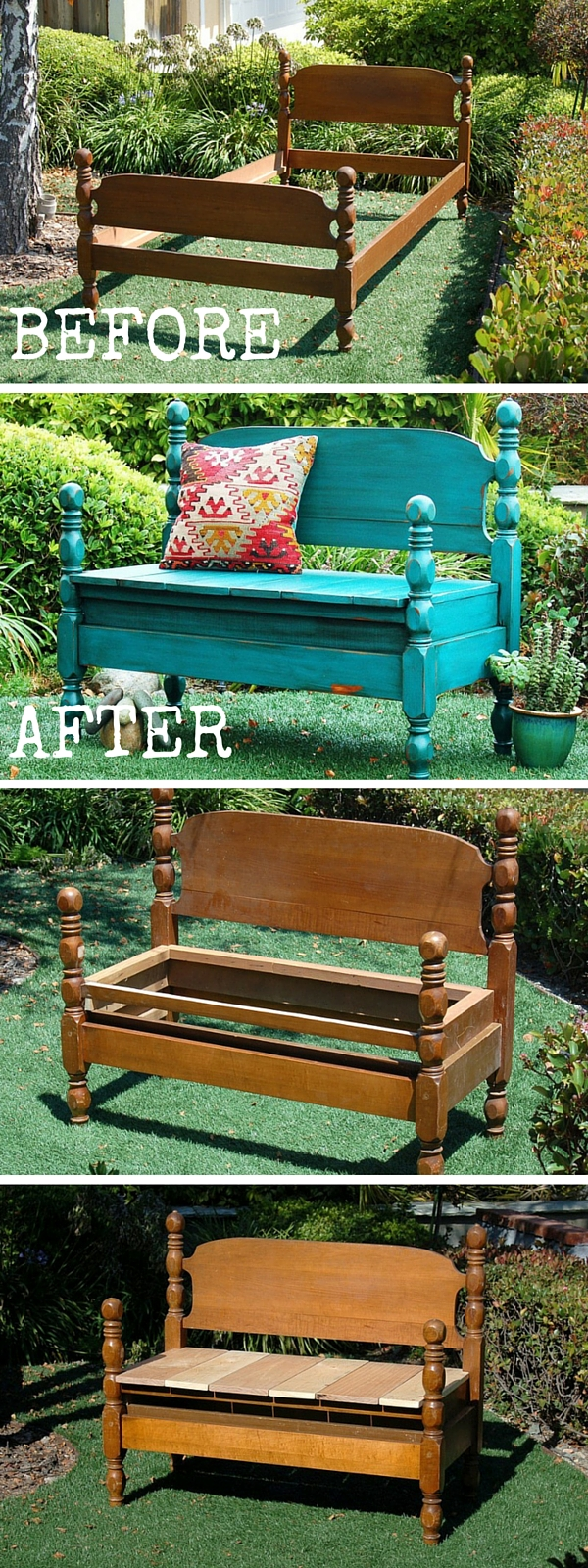 upcycled furniture upcycling reuse DIY The handy mano manomano bed bench