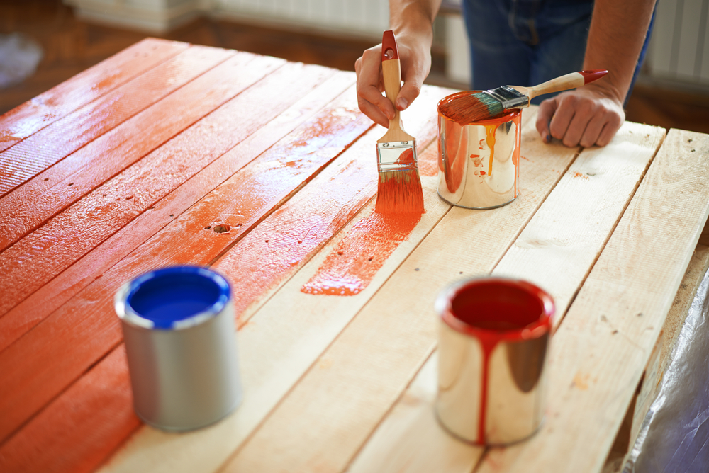Hacks to Make Your Home Look Expensive the handy mano manomano diy do it yourself painting furniture red