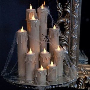 manomano mano mano the handy diy do it yourself 6 Easy Homemade Halloween Decorations easy projects kids floating candles glue gun cardboard toilet roll
