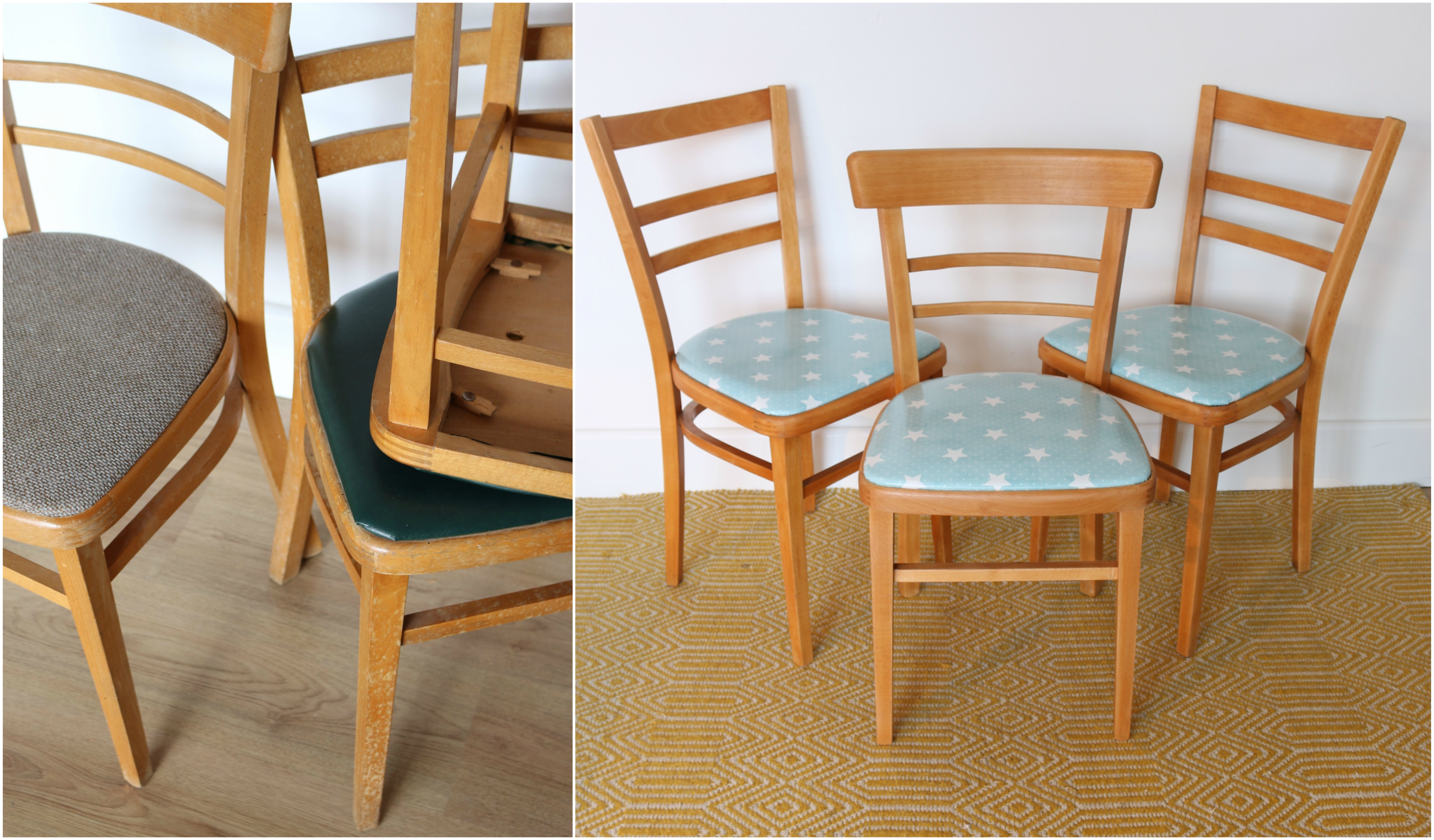 Diy Dining Chairs Dining Chair Makeover Diy Upholstered Chairs The Handy Mano