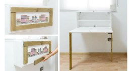 DIY Framed Picture Folding Desk – Furniture for Small Spaces
