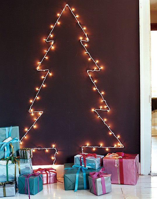 Alternative christmas trees alternative different tree the handy mano manomano mano diy do it yourself festive lights attached to wall