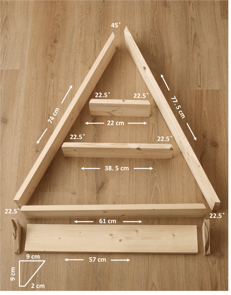 DIY Christmas Tree Shelves - Alternative Christmas Tree do it youself manomano the handy mano thehandymano mano festive stockings decor decorations reusable building wood measurements