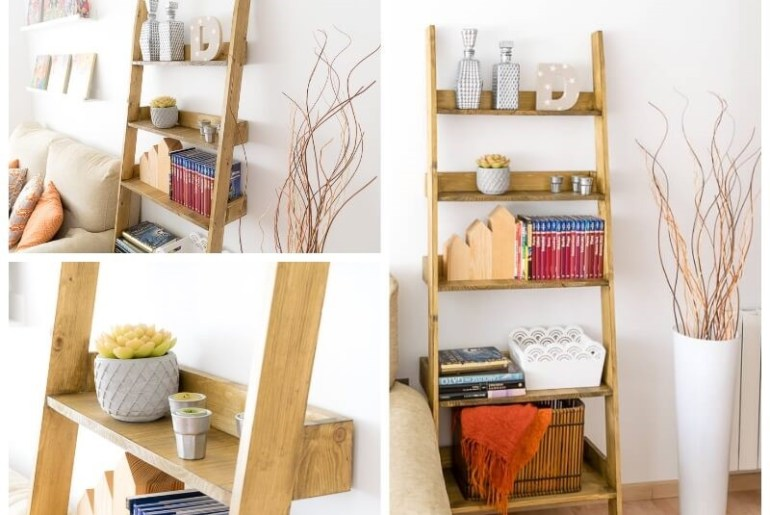 diy ladder shelf storage blanket shelf the handy mano manomano mano thehandymano complete project